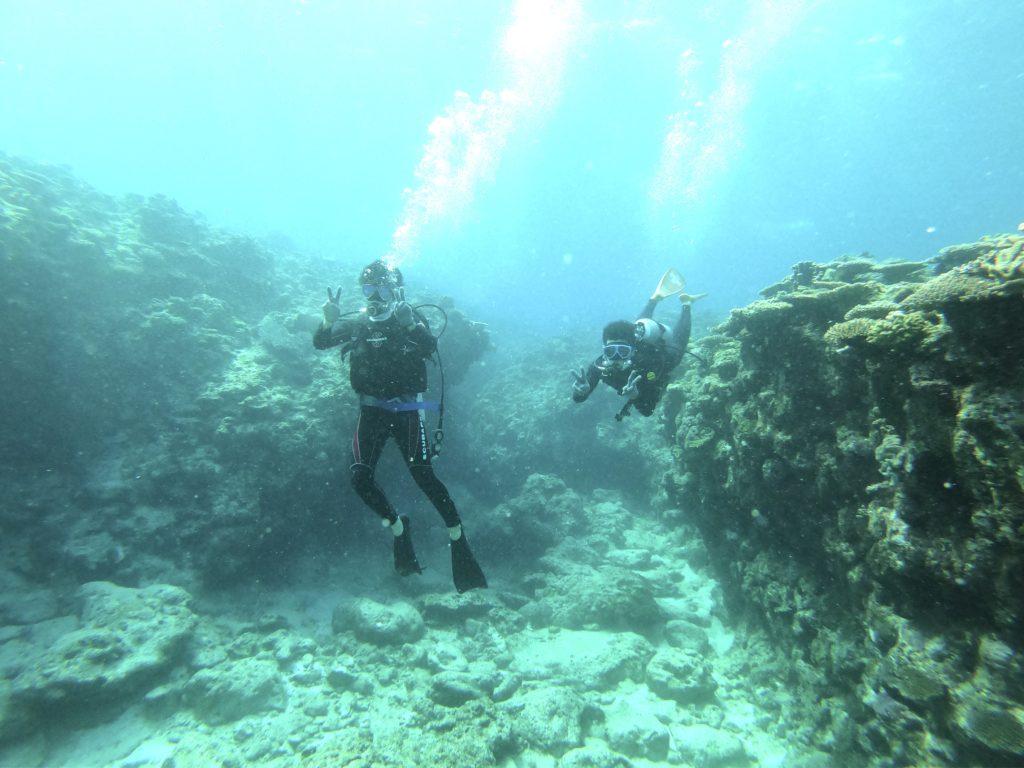 チービシ諸島で体験ダイビング