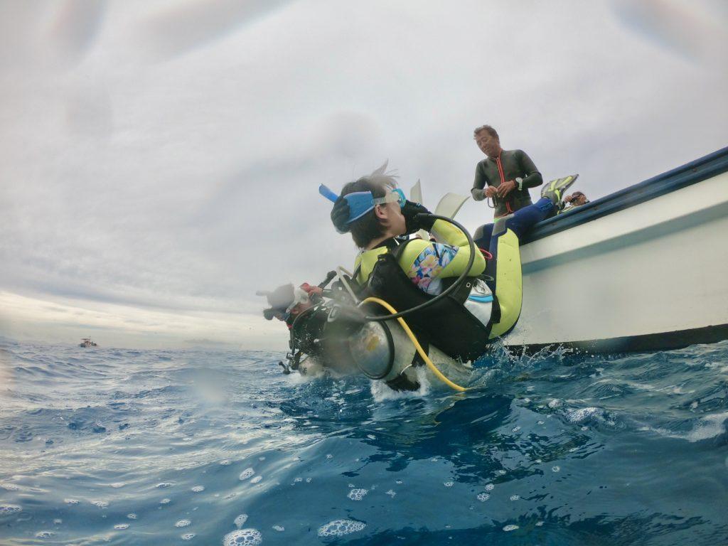 水納島でファンダイビング