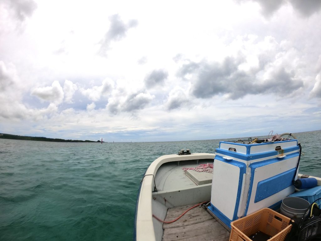 恩納村の海でダイビング