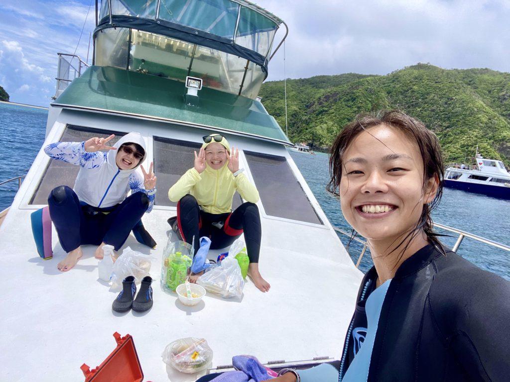 慶良間諸島でファンダイビング